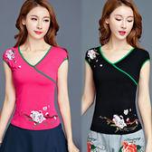 【韓國KW】(現貨在台)-2XL-4XL-典雅中國風精緻繡花上衣