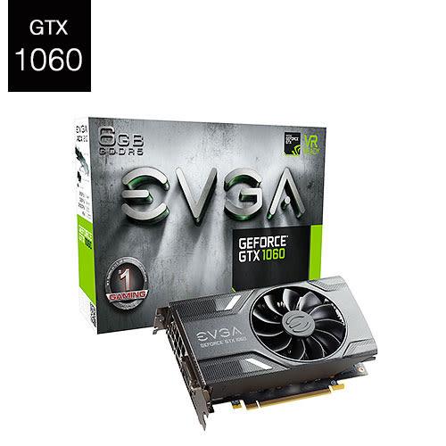 EVGA 艾維克 GeForce GTX 1060 ACX 2.0 GAMING 06G-P4-6161-KR 顯示卡