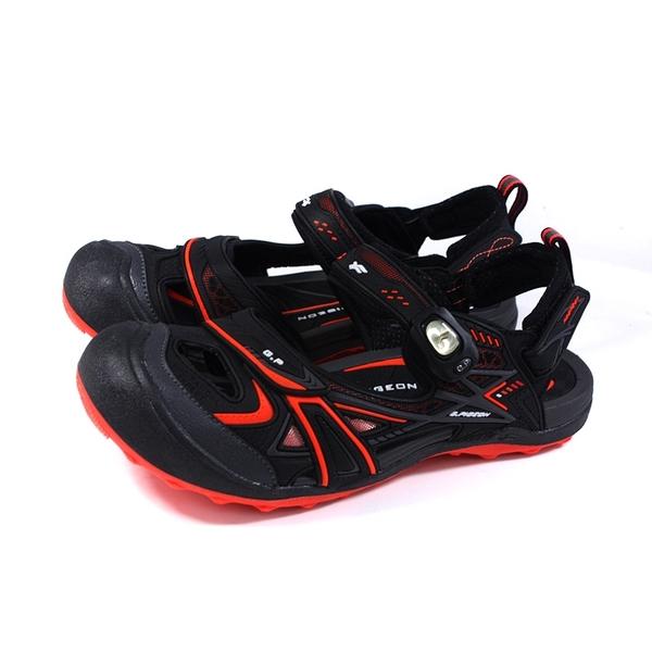 G.P (GOLD PIGEON) 阿亮代言 運動型 涼鞋 護趾 黑/橘 男鞋 G1642M-42 no462