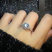 鋯石仿真鉆戒女1克拉日韓結婚對戒鑲嵌個性簡約潮人學生求婚戒指 IV2136【衣好月圓】