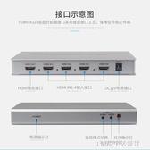 轉換器 HDMI分屏器四進一出切換器4進1出分配器視頻畫面分割器DNF畫中畫 1995生活雜貨