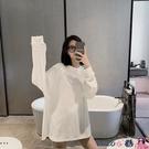 熱賣孕婦裝上衣 孕婦秋冬裝時尚款加絨打底衫內搭白色孕婦t恤寬鬆中長款上衣 coco