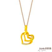 J'code真愛密碼 預約幸福黃金墜子 送項鍊