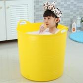 兒童泡澡桶英文游泳桶兒童洗澡桶塑料寶寶【奇趣小屋】