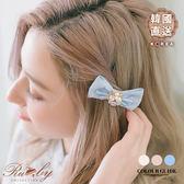 髮飾 韓國直送珍珠水鑽花朵蝴蝶結髮夾-Ruby s 露比午茶