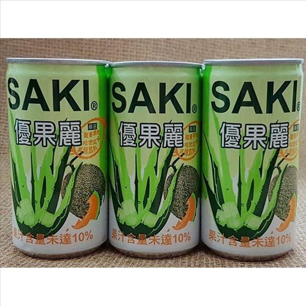 SAKI 蘆薈哈密瓜乳酸飲料禮盒 80mlx15罐【8809401410720】(韓國飲品)