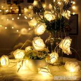 Led玫瑰花燈少女心浪漫房間裝飾布置燈串婚慶彩燈求婚錶白道具
