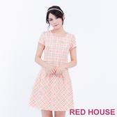 【RED HOUSE 蕾赫斯】格子蝴蝶結洋裝(共2色)