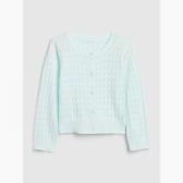 Gap女幼甜美亮色鏤空針織開衫538981-淡水藍色