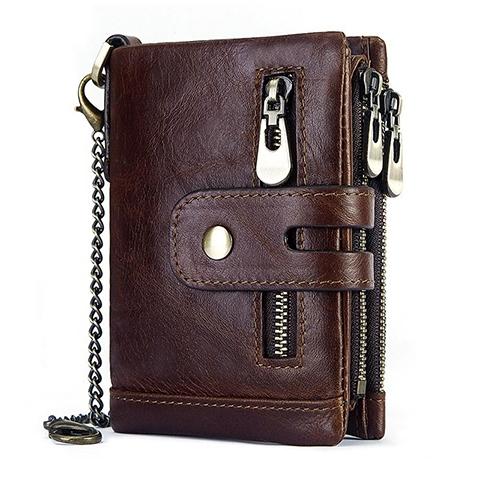 男錢包駕駛證一體潮牌真皮軟牛皮男士皮夾拉鏈短款男式卡包鑰匙包 依凡卡時尚