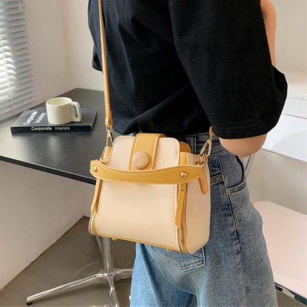 法國小眾包包高級感水桶包手提女包新款2021爆款單肩包女夏斜挎包 小艾新品