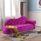 送抱枕歐式貴妃椅 懶人沙發 臥室小沙發 美人榻 店鋪小沙發 躺椅 定制尺寸XW