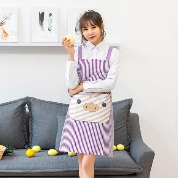 Qmishop 韓版時尚無袖圍裙背帶H型工字背圍裙【J505】