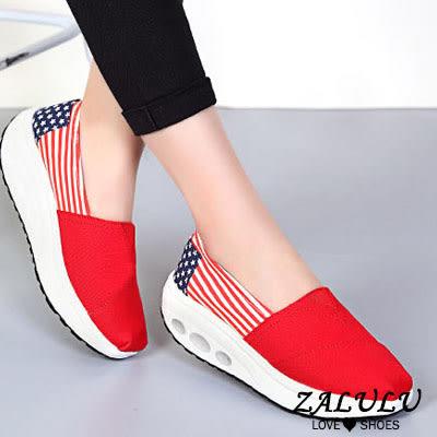 ☼zalulu愛鞋館☼ BE012 耐穿好走輕量繽紛圓頭柔軟鞋墊休閒搖搖鞋-7色 35-40