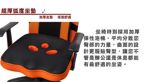 《嘉事美》 3D專利坐墊大護腰多功能高背辦公椅/電腦椅 電腦桌 穿衣鏡 收納櫃 茶几桌