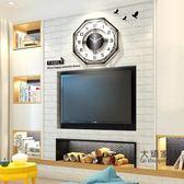 掛鐘 現代簡約鐘錶掛鐘客廳個性創意時尚北歐時鐘家用錶大氣靜音石英鐘