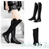 【618好康又一發】過膝靴長靴皮面韓版秋冬百搭黑色