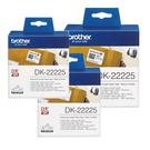 Brother DK-22225 白底黑字 (3入包裝)原廠連續標籤帶 適用QL-500/QL-550/570/580N/650TD/700/1050/1060N