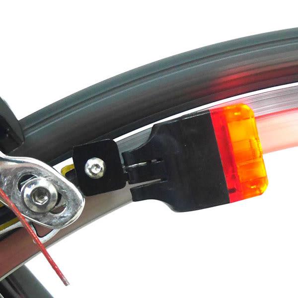 Xbat-C1 自行車LED自發電後警示燈(C型夾專用煞車靴支架)