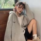 百搭長袖連帽衛衣女裝2020年秋季新款韓版寬鬆中長款秋裝上衣外套 浪漫西街