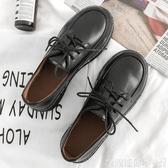 牛津鞋增高小皮鞋女厚底百搭黑色牛津鞋女布洛克鞋英倫風單鞋復古馬丁鞋 聖誕交換禮物