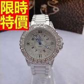 鑽錶-優雅百搭氣質鑲鑽女手錶4色62g11【時尚巴黎】
