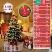 聖誕節裝飾品商場家用聖誕樹裝飾擺件套餐60cm1.5m 1.8m加密櫥窗場景擺件【 1.5米聖誕樹套餐+樹裙】