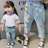 女童牛仔褲春秋裝洋氣褲子1一3歲女寶寶破洞彈力褲兒童長褲潮 道禾生活館