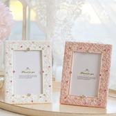 韓式鑲鑚婚紗照相架結婚禮物婚禮擺台 公主蕾絲相框  遇見生活