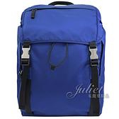 茱麗葉精品【全新現貨】PRADA 2VZ062 三角LOGO尼龍硬式束口後背包旅用包.藍 大