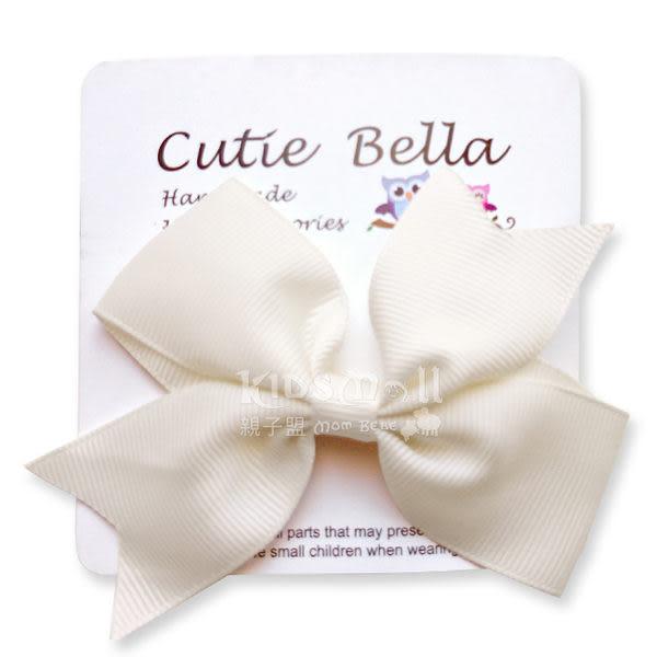 Cutie Bella蝴蝶結Bow Stretch髮夾-Cream