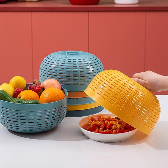食物罩 瀝水籃 塑料罩 飯菜罩 保鮮蓋 洗菜盆 菜罩 水果籃 洗菜神器 洗菜籃【P049】生活家精品