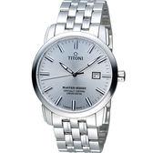 TITONI Master Series 天文台認證機械腕錶 83188S-575 銀色