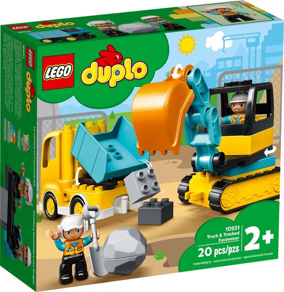 【愛吾兒】LEGO 樂高 duplo得寶系列 10931 卡車&挖土機