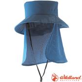 Wildland 荒野 W1039-69灰藍色 中性抗UV多功能遮陽帽 防曬工作帽/登山休閒帽/漁夫帽/大圓遮陽帽*