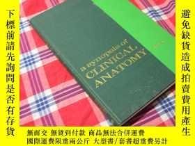 二手書博民逛書店醫學解剖圖譜罕見1969年 A Synopsis of Clin