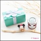 Double Love Tiffany盒裝 迪士尼tsumtsum鑰匙圈+果醬小禮盒 婚禮小物 生日分享 Tiptree