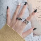 戒指歐美風蹦迪戒指女復古十字架食指做舊時尚個性開口戒簡約氣質百搭特賣