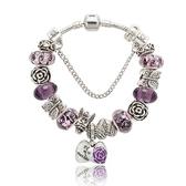 串珠手環-水晶飾品精美熱銷紫色系列女配件73kc111【時尚巴黎】