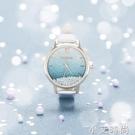 流沙水鑚腕表小表盤氣質手錶學生簡約ins風復古小巧時尚潮流女表 小艾新品