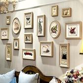 美式客廳照片牆組合掛牆相框餐廳 牆面裝飾臥室創意情侶結婚禮物ATF 母親節禮物