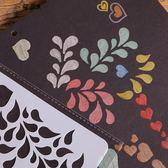 主題花邊尺模板手工diy相冊配件材料繪畫板鏤空模版畫圖工具【櫻花本鋪】