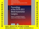二手書博民逛書店Proceedings罕見of the FISITA 2012 World Automotive Congress