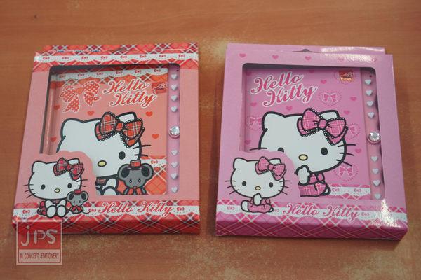 Hello Kitty 密碼鎖日記本 (紅蕾絲&粉蕾絲)