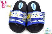 新幹線 童拖鞋 輕量防水卡通拖鞋 H5660#黑色OSOME奧森鞋業