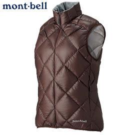 丹大戶外 日本【mont-bell】LT Alpine 女款羽絨背心/保暖超輕量 型號1101364-CHNT 咖啡色