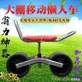 大棚懶漢車移動采摘神器旋轉升降懶人凳座椅農用園林修車工具凳 LannaS YTL