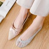 5雙裝 船襪女淺口隱形襪子女薄款蕾絲硅膠防滑高跟鞋襪子【慢客生活】