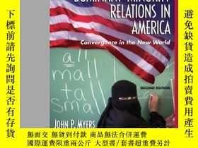 二手書博民逛書店Dominant-minority罕見Relations In America: Convergence In T