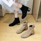 切爾西短靴女春秋單靴2020新款秋季英倫風粗跟彈力靴網紅瘦瘦增高 小山好物
